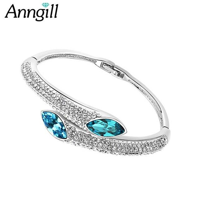 Famous Brand Bracelet Pulseiras Bangles Decorations Made With Swarovski Elements Austrian Crystal Bijoux Fine Jewelry