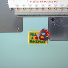 Custom  Lines Embroidered Name Tag / Morale Patch Tape Iron On, Sew on
