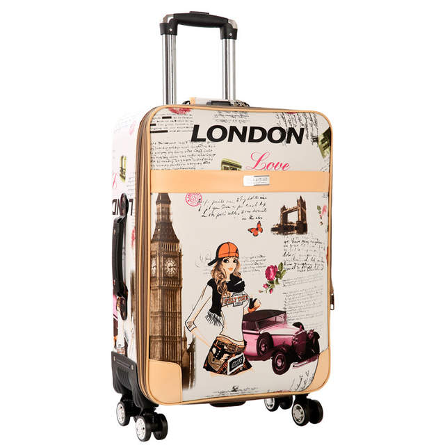 996cd3b3c057 Online Shop BeaSumore Cute girl Rolling Luggage Spinner Suitcase Wheels  Student Carry On Travel Bag Women Password Cabin Trolley School Bag
