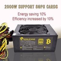 Asic Bitcoin New Gold Power 2000W PLUS BTC Power Supply ATX Mining Machine Supports 8