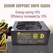 ASIC Bitcoin новый золотой мощность 2000 Вт плюс Eth источника питания ATX горные машины поддерживает 8 GPU карты поддерживают Бесплатная доставка