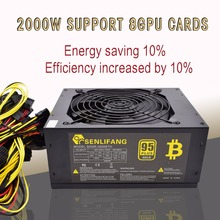 Marke neue Gold power 2000 Watt PLUS BTC netzteil ATX Bergbau Maschine unterstützt 8 GPU karten unterstützung freies verschiffen
