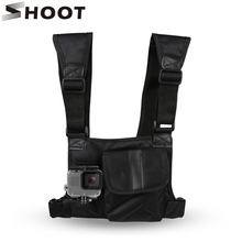 SHOOT Action Camera Chest Strap Mount for GoPro Hero 5 4 3 SOOCOO EKEN SJCAM Xiaomi Yi 4K h9 with Tool kits Bag Go Pro Backpack
