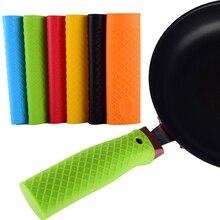 Силиконовая ручка для кастрюли, держатель для кастрюли, нескользящая крышка, кухонная посуда, запчасти, уникальный кухонный гаджет