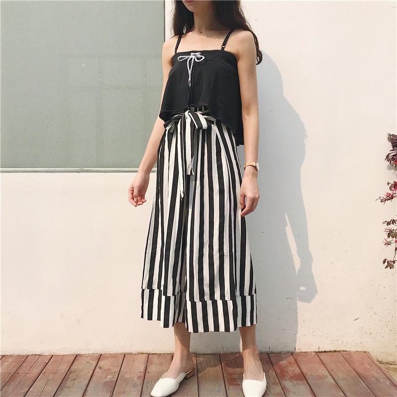 43c0892759d 2019 Oversize Jumpsuit High Waist Wide Leg Jumpsuit Female Off ...