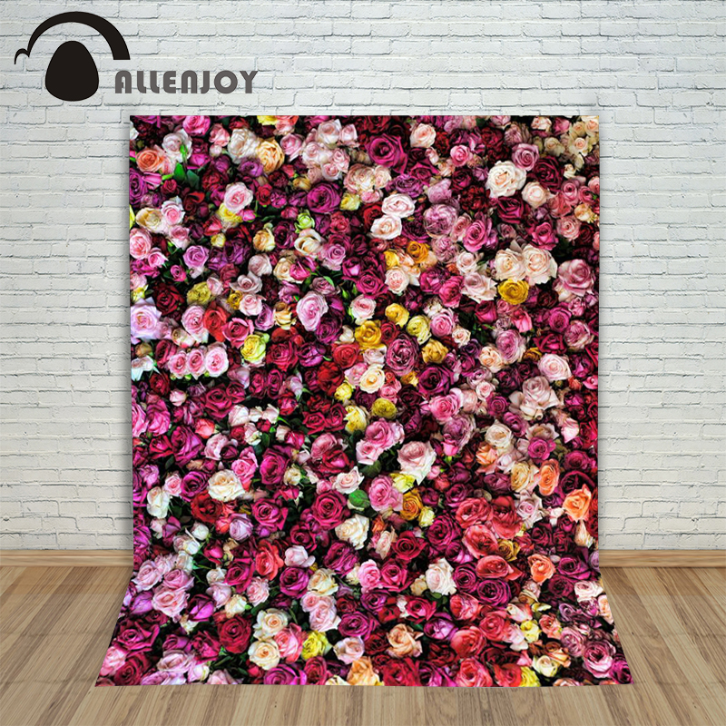 Allenjoy backdrop baby shower spring flowers Photo Background colorful love flower wedding Photography backdrops Studio