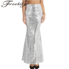 271588e92a Summer Fashion Womens Fashion Long Maxi Skirt Shiny Sequin Mermaid Skirts  Slim Fit Evening Party Long