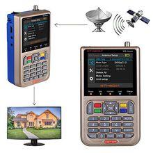 Original gtmedia v8 finder medidor localizador de satélite hd dvbs2/s2x fta localizador satélite digital satfinder 3000mah bateria