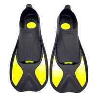 Aletas de buceo adultos Snorkeling pie Flipper niños Beginner natación aletas equipo portátil corto Rana zapatos mujeres hombres deportes acuáticos