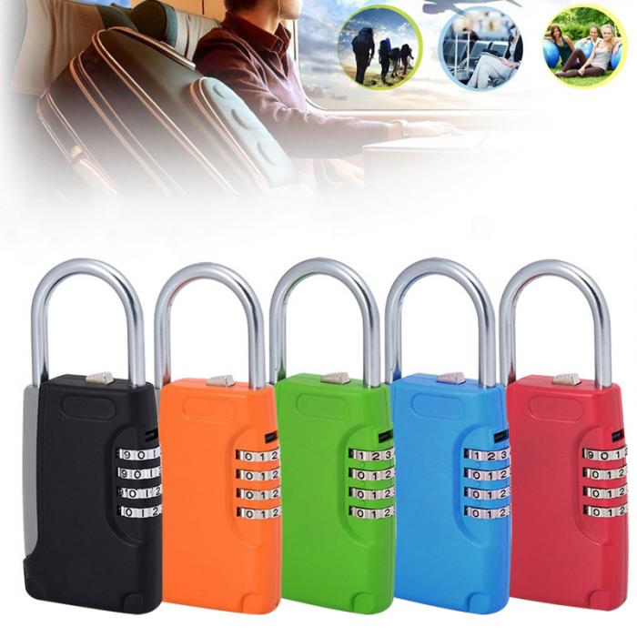 Newest Key Lock Box Keys Safe Storage Security Combination Lock Box With 4 Digit Combination