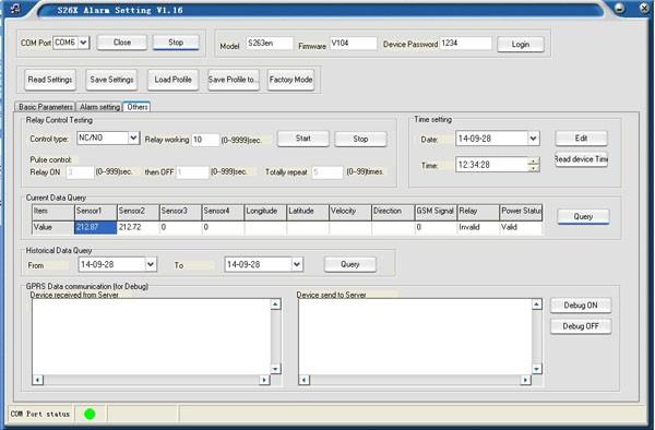 3.S262 GPRS GPS temperature logger setting 2