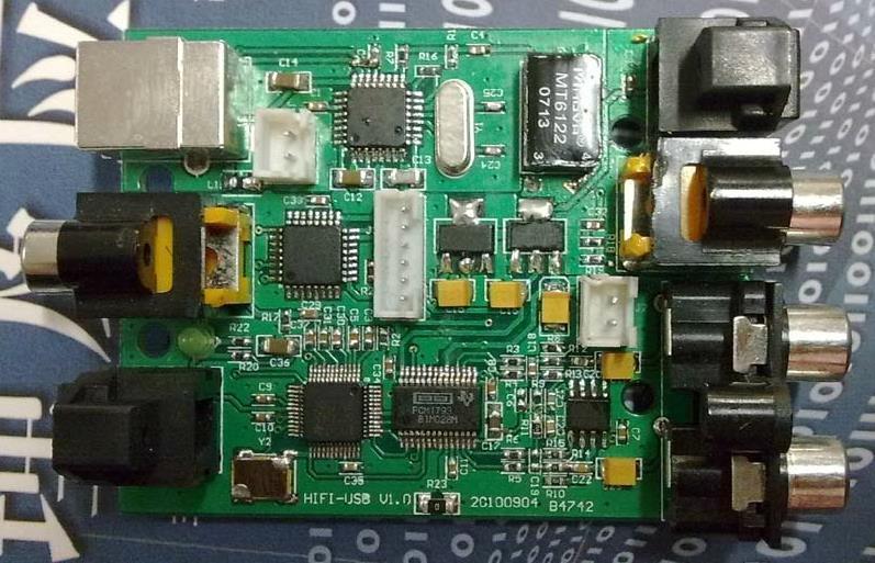 Livraison Gratuite! SRC4392 capteur de module de conversion audio (Upconversion asynchrone)/carte son USB (analogique optique coaxial USB)