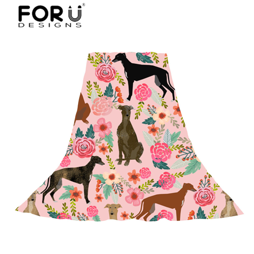FORUDESIGNS Women Long Scarf Towel Ladies GreyHounds Cute Dog Rescue Puppy Beach Stoles for Females Kawaii Accessories Scarves