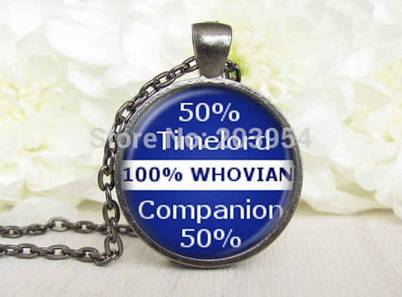 movie dr doctor who blue timelord 50% Necklace 1pcs/lot bronze silver Glass Pendant jewelry 2016 vintage 2017 iron man Steampunk