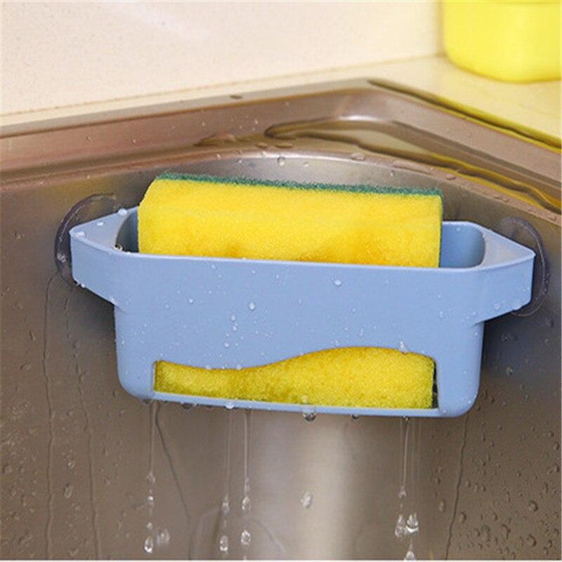 1 Pc Küche Bad Lagerung Rack Waschbecken Ecke Lagerung Korb Seife Gerichte Ablassen Rack Schwamm Halter Veranstalter Kostenloser Versand
