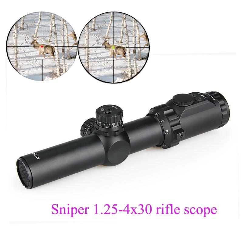 Tactical 1.25-4x30 Riflescopes Sniper Scope Optic Sight Red/green Illuminated + Free Killflash + Free Scope Mount Gz10254