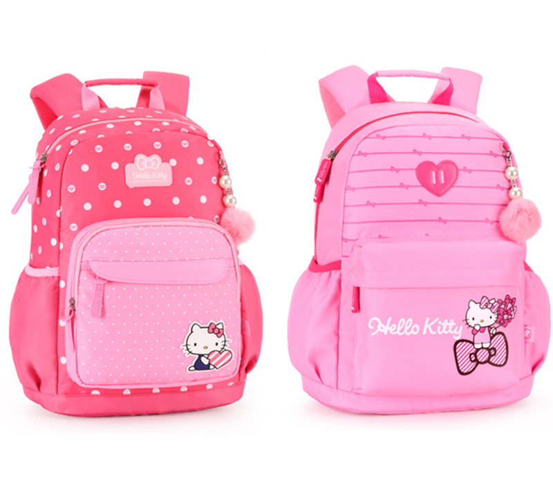 Hello Kitty Bag Primary Elementary School Backpacks Children School Bags  for Girls Orthopedic Backpack Kids Schoolbag 73ef5fa29bcf9