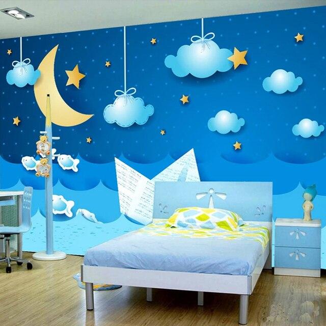 Custom Murals Wallpaper 3d Cartoon Starry Sky Photo Wall Painting