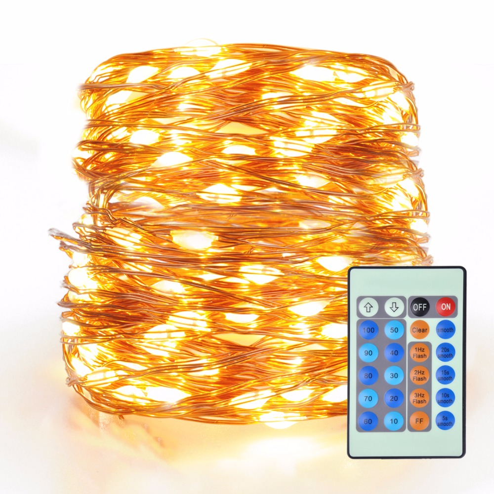 LED String Lights Dimmable 20m with 200 LEDs Waterproof Outdoor Indoor Decorative Light for Bedroom Garden Patio Party Christma