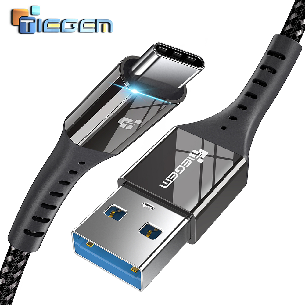 TIEGEM USB 3.0 Type C Cable 2.4A USB C Cable for Huawei Fast Charging USB Type-C Cord cable for Samsung S9 S8,Google Pixel 2