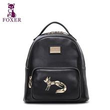 FOXER2016 new high-end luxury fashion leather shoulder bag brand 100 percent well-known brand of high quality women