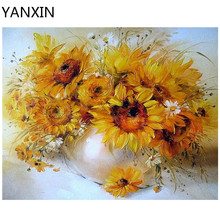 YANXIN DIY Frame Painting By Numbers Oil Paint Wall Art Pictures Decor For Home Decoration 933(China)