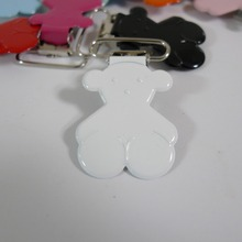 "25PCS 1"" 25mm #02 WHITE Color Teddy Bear Suspender Clips Pacifier Holder Clips"
