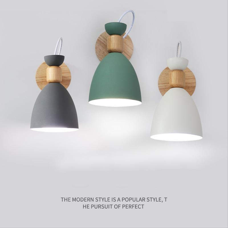 Nordic Wandleuchte Nachttischlampe Schlafzimmer Moderne Wohnzimmer Gang  Treppen Einfache Eisen Gürtel Wandleuchte LED Licht