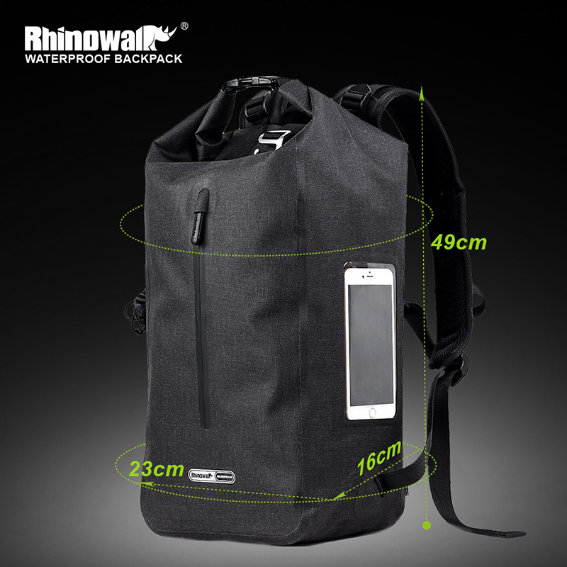 RHINOWALK sac à dos de vélo étanche 25 L sac de vélo de grande capacité sac à dos de cyclisme longue Distance pour hommes