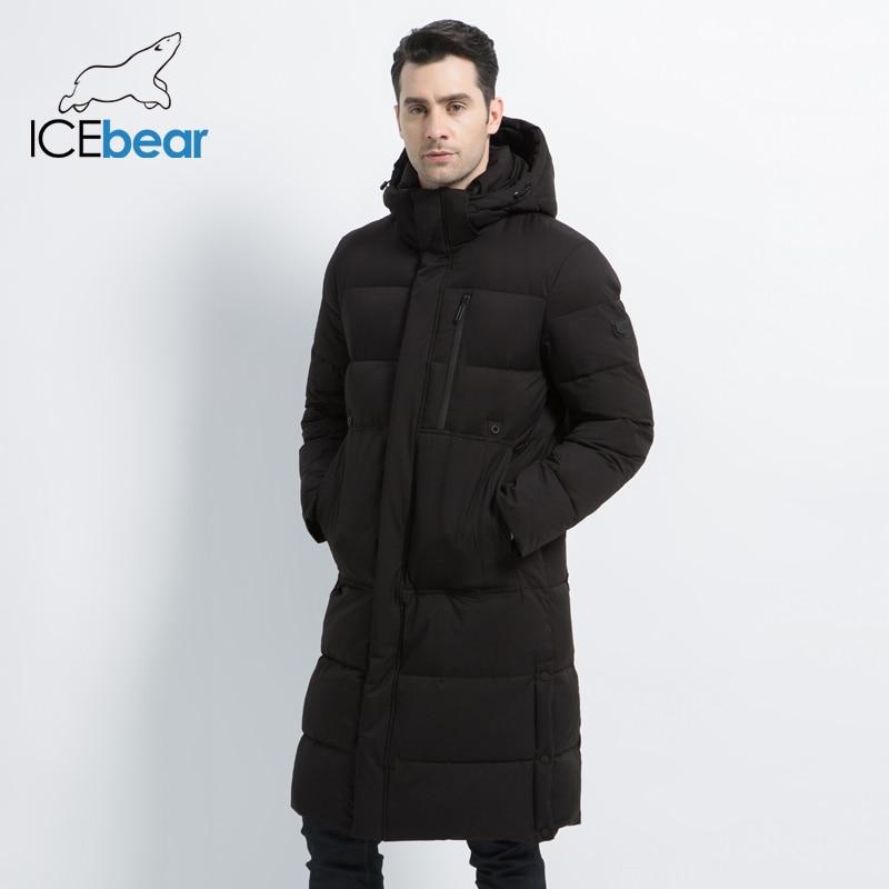 2019 neue männer Winter Jacke Lange Mantel der Männer mit Zipper Mit Kapuze Männlichen Mäntel Hohe Qualität Mann Winter Marke kleidung MWD19913D - 4