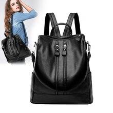 Лидер продаж Дамские туфли из PU искусственной кожи винтажные рюкзак высокое качество школьные сумки для подростков молния Назад mmochila Mujer