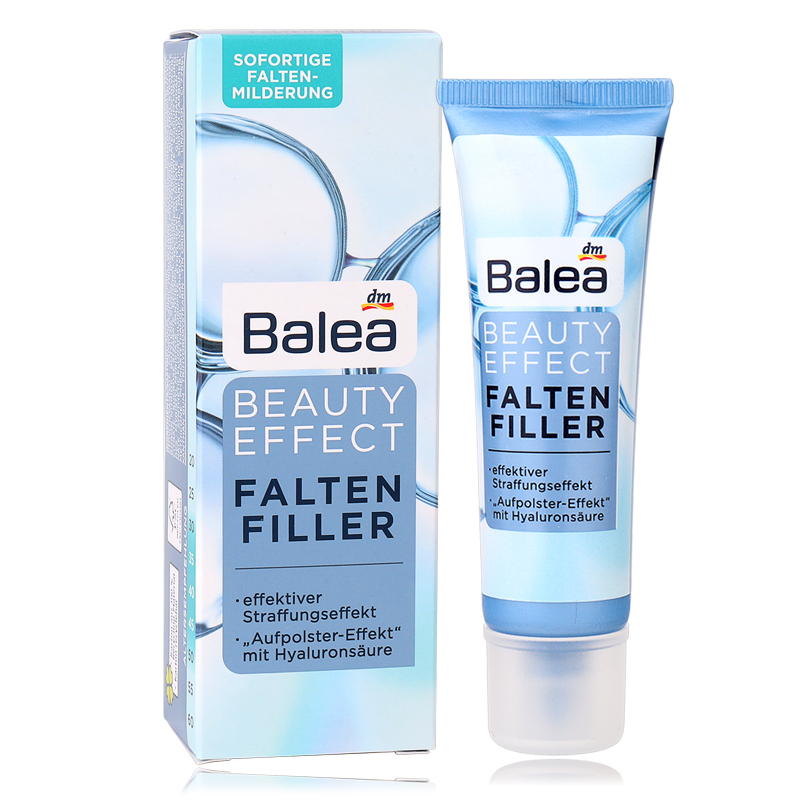 Newest Germany Balea Beauty Effect Wrinkle Filler Hyaluronic Acid Serum Moisturizing Essence Lifting Effect Vegan Paraben-Free