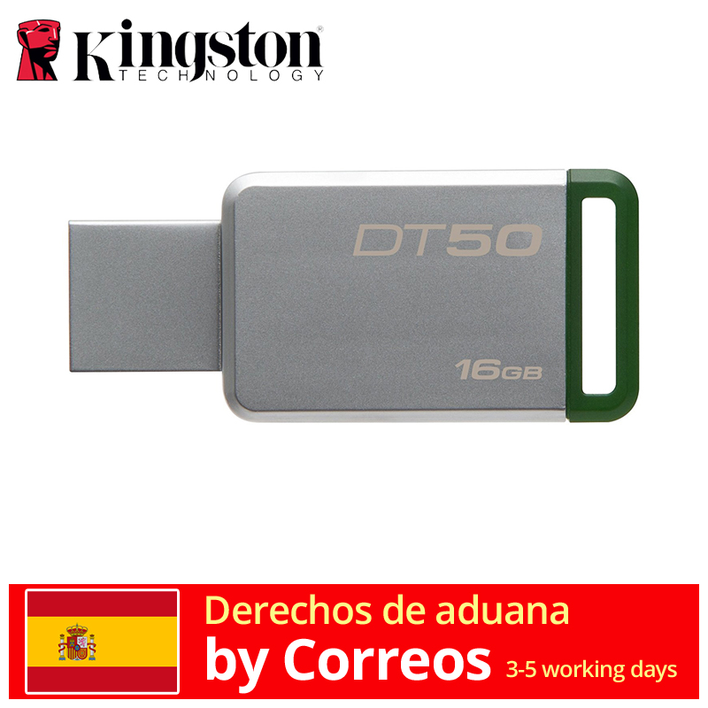 Kingston Technology DataTraveler 50 16GB Memoria (USB 3.0 DE 16 GB, USB Type-A) Verde/Plata envio rapido memoria usb vs pendrive USB-флеш-накопитель