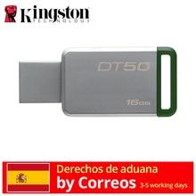 Kingston technology DataTraveler 50 16 GB Memoria (USB 3,0 DE 16 GB, usb type-A) Verde/плата envio rapido