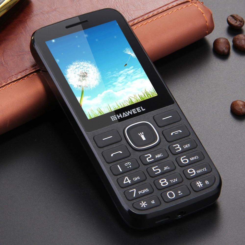 Haweel x1 teléfono celular viejo teléfono 2.4 pulgadas dual sim ruso teclado Gra