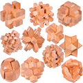 Good Quality IQ Wooden Interlocking Puzzle Mind Brain Teaser Beech Wood Burr Puzzles Game for Adults Children