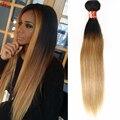 1 bundle Прямые Волосы Индийские Ombre Наращивание Волос 7А Класс девы Прямо 1B 27 Два Тона Человеческие Волосы Соткать Высокое качество