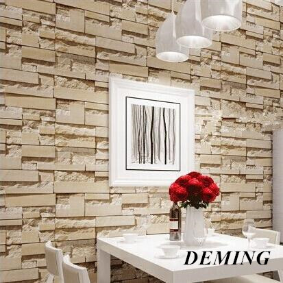 DEMIING  wallpaper stone brick wall 3Droll modern vintage wall paper  vinyl Wall covering for bedroom and live room Background beibehang stone brick 3d wallpaper roll modern vintage wall paper pvc vinyl wall covering for bedroom live room tv background