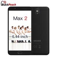 UHANS Max 2 6,44 дюймов FHD 4 г смартфон 4 ГБ Оперативная память 64 ГБ Встроенная память MTK6750T Octa Core 4300 мАч 13MP + 2MP Спереди двойной камеры мобильного телеф