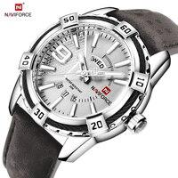 NAVIFORCE Top Luxury Brand Men Quartz Watch Army Military Sport Business Watches Week Analog Display Male