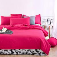 UNIHOME Luxe Zebra Full/Queen dekbedovertrek 300 thread count fiber reactieve prints beddengoed set RODE ROOS