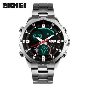 Image 1 - สุดหรูแบรนด์ SKMEI ผู้ชายนาฬิกาควอตซ์ Analog Digital LED กองทัพทหารกีฬานาฬิกาชาย Relogios Masculinos