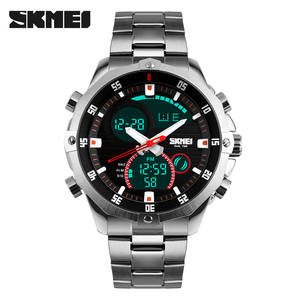 Top Luxury Brand SKMEI Men's Watches Full Steel Quartz Analog Digital LED Army Military Sport Watch Male Relogios Masculinos