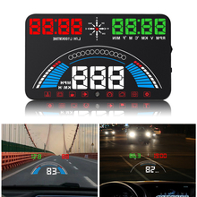 GPS 5.8 Car styling S7 HUD Speedometer OBD2 Car Head-Up Display Vehicle Speeding Warning Fuel Consumption Water Temperature RPM universal car gps hud head up display obd2 gps car styling speed rpm fuel consumptions dashboard windscreen projector obd hud