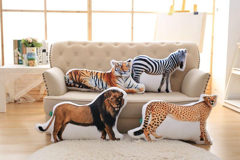3D dimensionnel en peluche oreiller simulation animaux conception doux oreiller jouet, canapé coussin 0294 - 2