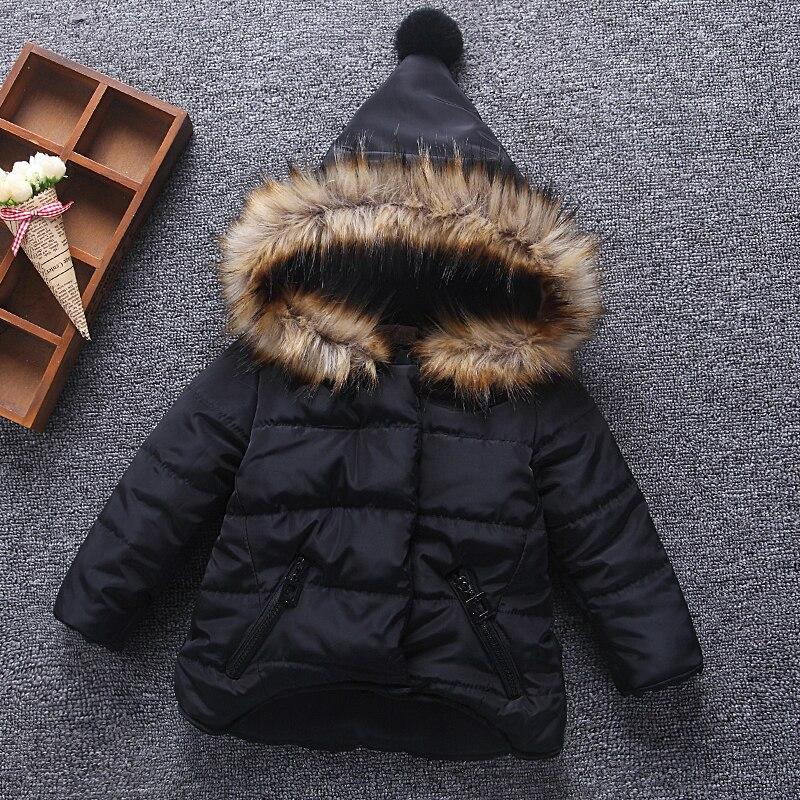 2018 New Children Winter baby girl boy fur hooded jacket parkas 2 4 5 6 baby kids girl Autumn brand clothes coat dresses outwear