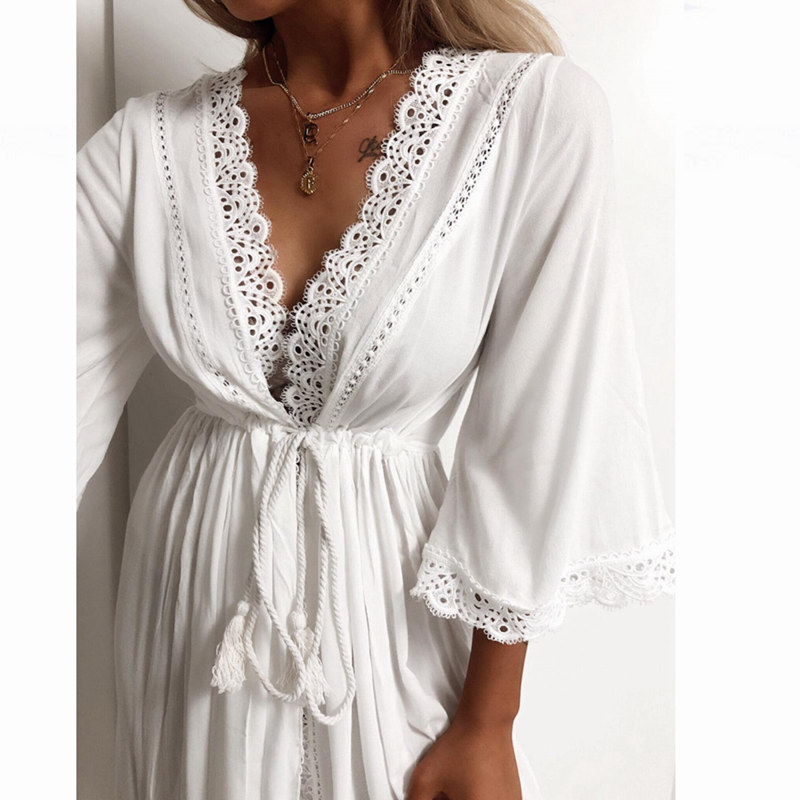 JULY'S SONG  Embroidered Sexy Nightgown Satin Lace Bathrobe Perfect Wedding Bridal Party Robe Sleepwear Woman Toweled Bathrobe