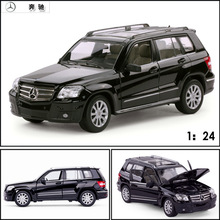 Free Shipping Large Scale Simulation Alloy Car Wholesale star alloy car models 1:24 Mercedes Benz GLK-CLASS toy car 34000