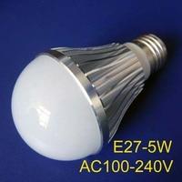High Quality 5x1w Led Lamps E27 5w Led Lights Free Shipping 2pcs Lot