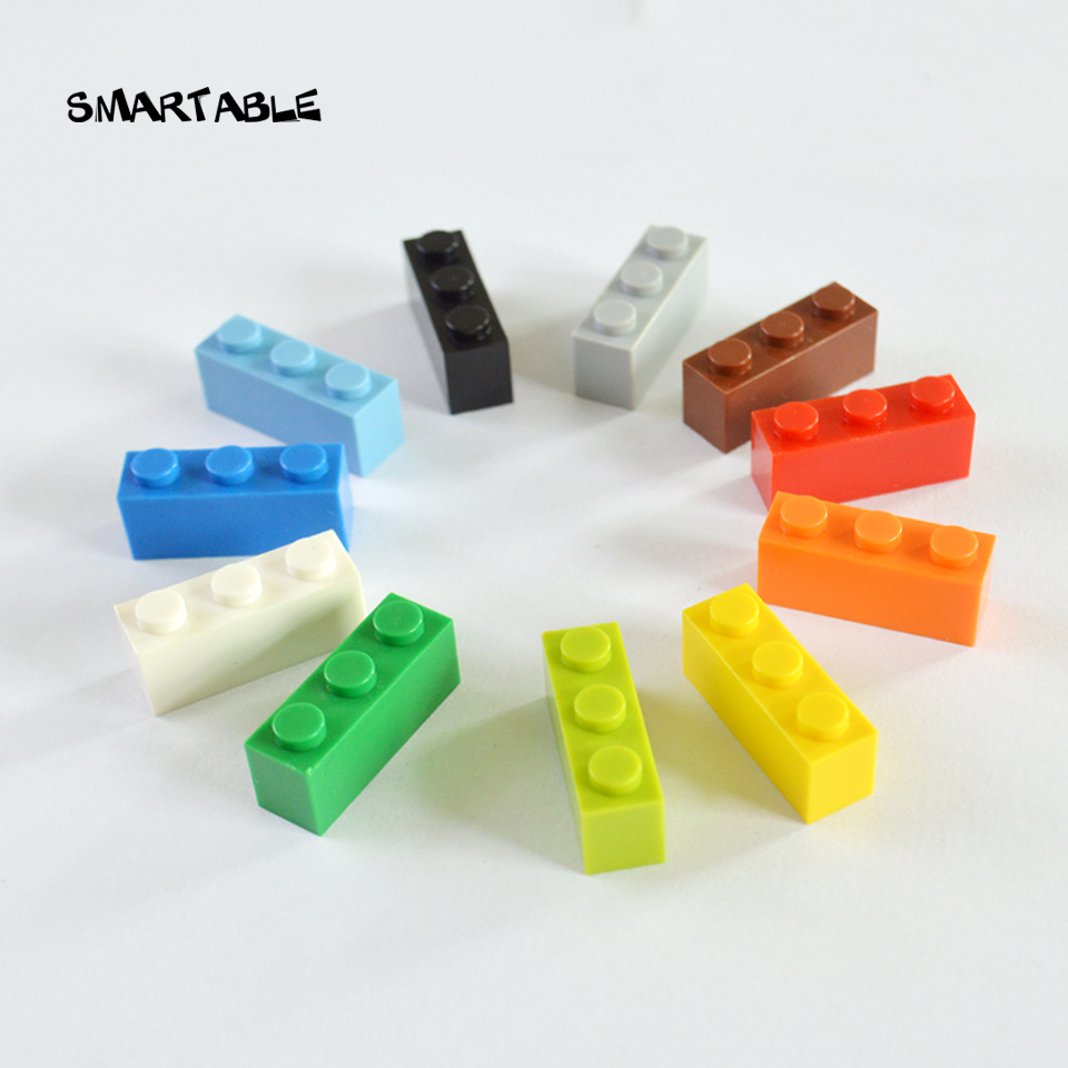 Smartable 1X3 High Bricks Particles Classic Small Building Blocks Parts DIY font b Toys b font